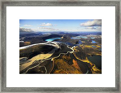 Lake In An Old Volcanic Crater Or Framed Print by Mattias Klum