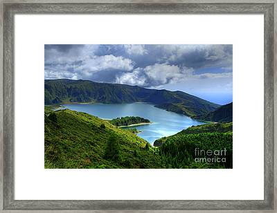 Lake In The Azores Framed Print by Gaspar Avila