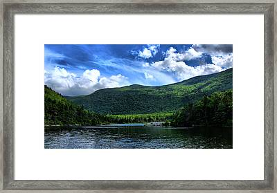 Lake In The Mountains  Framed Print by Edward Myers