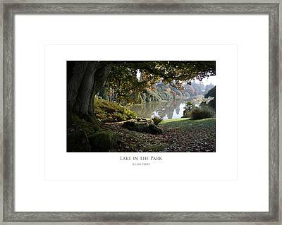 Framed Print featuring the digital art Lake In The Park by Julian Perry