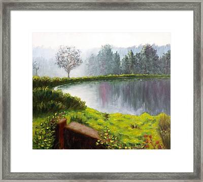 Lake In The Park Framed Print