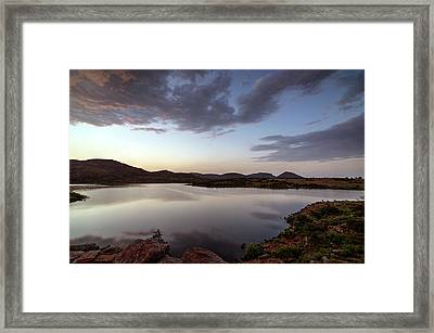 Lake In The Wichita Mountains  Framed Print
