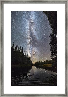 Lake Irene Under The Stars Framed Print