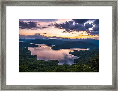 Lake Jocassee Sunset Framed Print