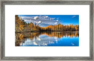 Lake Kan-ac-to At Woodcraft Camp Framed Print by David Patterson