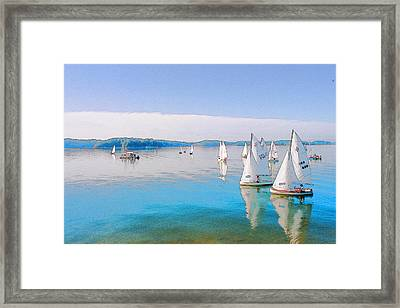 Lake Lanier Framed Print by Randy Sprout