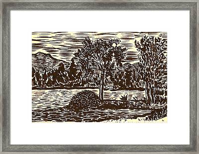 Lake Leek Framed Print