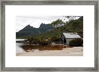 Lake Lilla Boat House Framed Print by Lexa Harpell