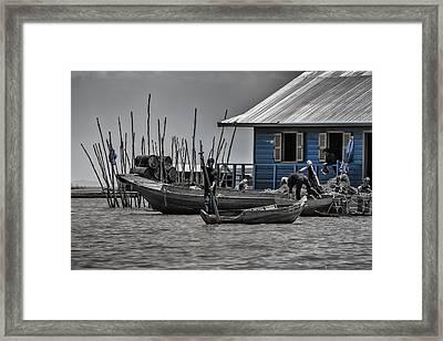 Lake Living Framed Print by Georgia Fowler