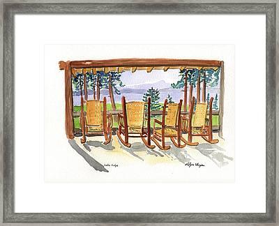 Lake Lodge Framed Print by Rodger Ellingson