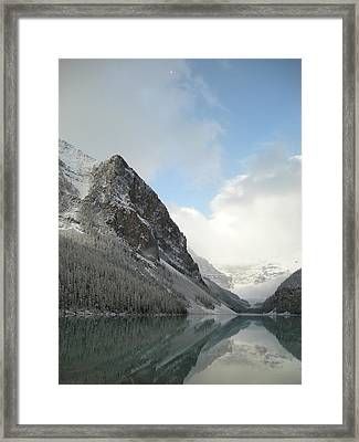 Lake Louise After First Snowfall  Framed Print