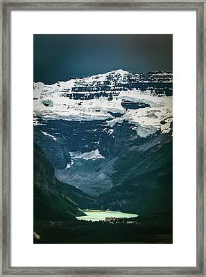 Framed Print featuring the photograph Lake Louise At Distance by William Lee