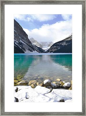 Lake Louise Beauty Framed Print by Andrea Hazel Ihlefeld