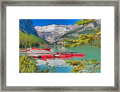Lake Louise Framed Print by Dennis Cox WorldViews