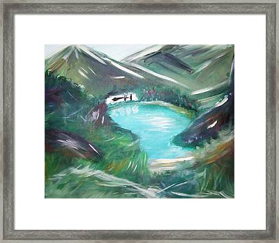 Lake Louise Framed Print by Patti Spires Hamilton