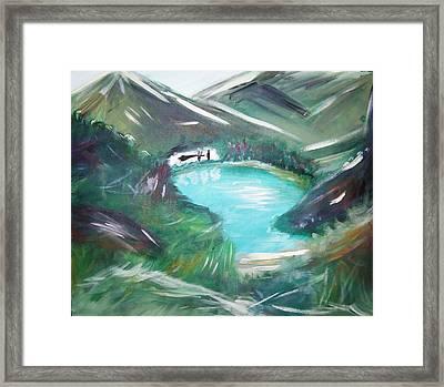 Lake Louise Framed Print by Patti Spires Hamilton