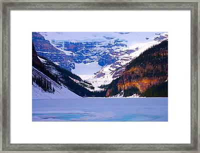 Lake Louise Framed Print by Paul Kloschinsky