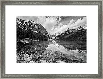 Lake Louise Bw Framed Print