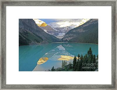 Lake Louise Sunrise Framed Print