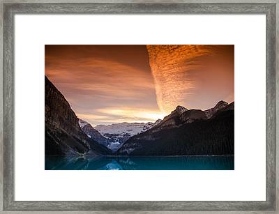 Lake Louise Sunset Framed Print