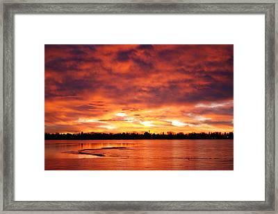 Lake Loveland Sunrise Framed Print by Billie Colson