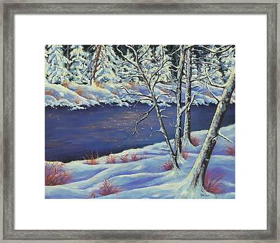 Framed Print featuring the painting Lake Lucerne Wisconsin by Susan DeLain