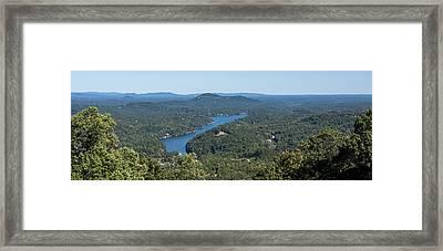 Lake Lure North Carolina Panoramic Framed Print