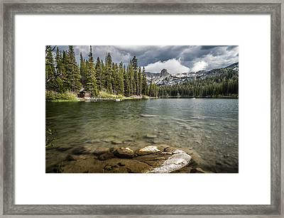 Lake Maime Framed Print by Cat Connor