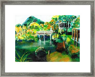 Lake Malibu Framed Print by Randy Sprout