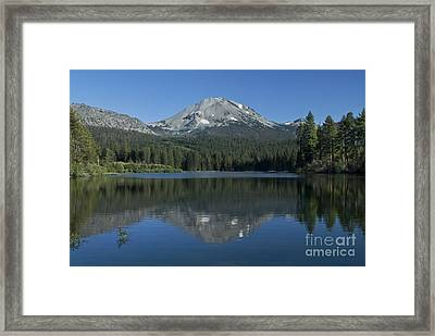 Lake Manzanita Reflection Framed Print