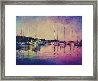 Lake Marina Framed Print