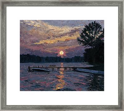 Lake Martin Sunset Framed Print by Tyler Smith