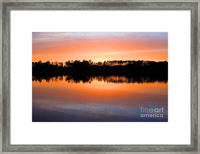 Lake Maumelle Sunset Framed Print