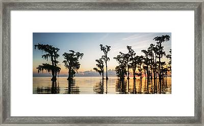 Lake Maurepas Sunrise Framed Print