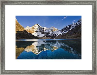 Lake Mcarthur And Mount Biddle Framed Print