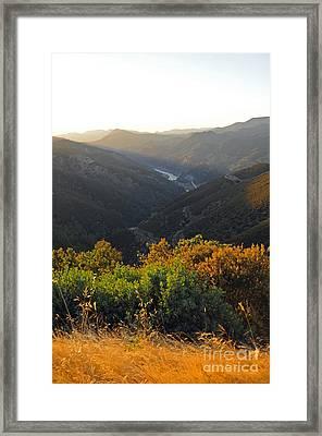 Lake Mcclure Ca Framed Print