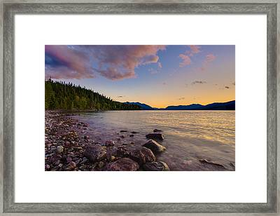 Lake Mcdonald At Sunset Horizontal Framed Print