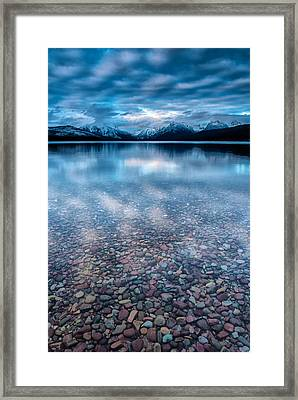 Lake Mcdonald Calm, Glacier National Park Framed Print