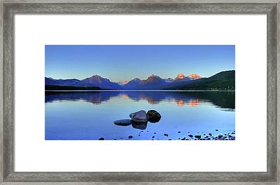 Lake Mcdonald Framed Print by Dave Hampton Photography