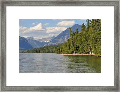 Lake Mcdonald Framed Print by D Nigon
