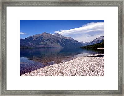 Lake Mcdonald Reflection Glacier National Park 4 Framed Print by Marty Koch