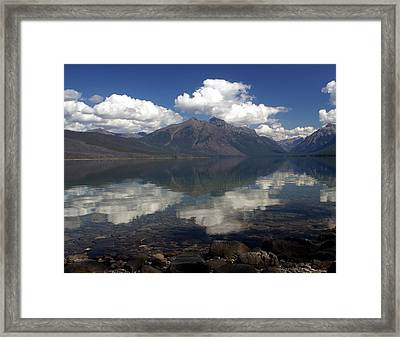 Lake Mcdonald Reflection Glacier National Park Framed Print by Marty Koch
