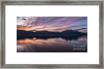 Lake Mcdonald Sunset Framed Print