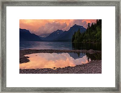 Lake Mcdonald Sunset Framed Print by Mark Kiver
