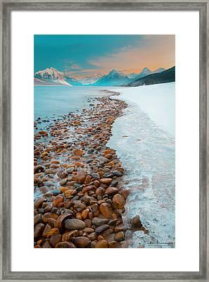 Lake Mcdonald Winter Framed Print