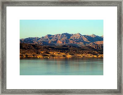 Lake Mead Before Sunset Framed Print