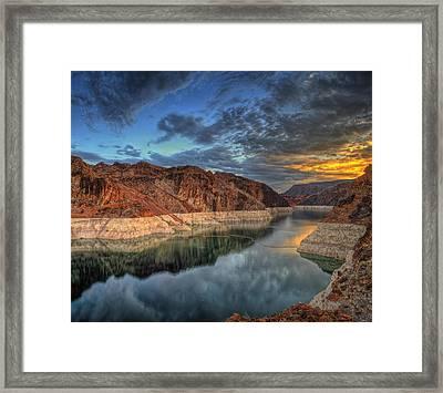 Lake Mead Sunrise Framed Print