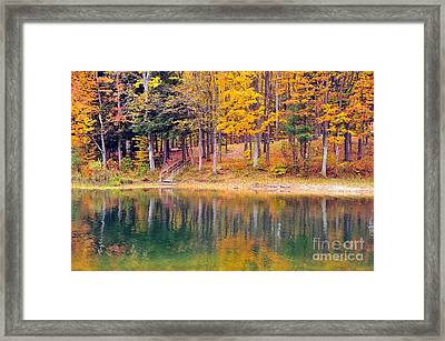 Lake Meauwataka Campground Framed Print