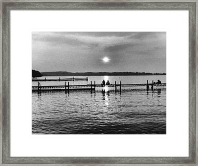 Lake Mendota In Madison Framed Print by Arvind Garg