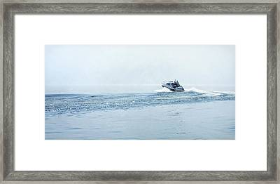 Framed Print featuring the photograph Lake Michigan Boating by Lars Lentz